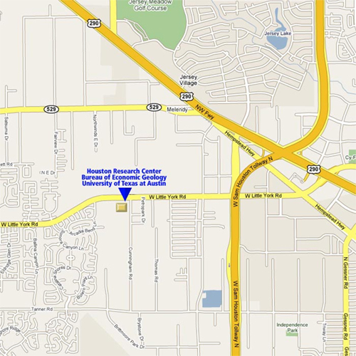 The Houston Research Center (HRC) map