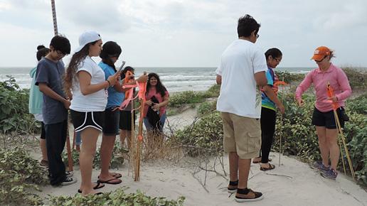 Sutudents participate in the Texas High School Coastal Monitoring Program