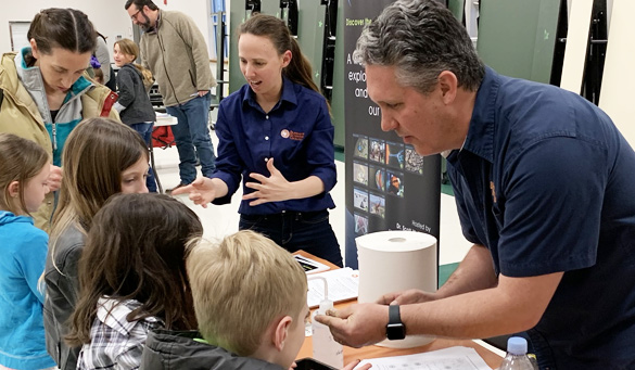 Science outreach by Todd Caldwell and Tara Bongiovanni