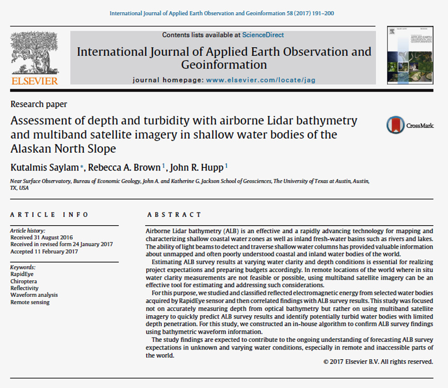 Assessment of depth and turbidity with airborne Lidar bathymetry and multiband satellite imagery