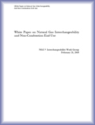 Natural Gas Interchangeability and Non-Combustion End Use