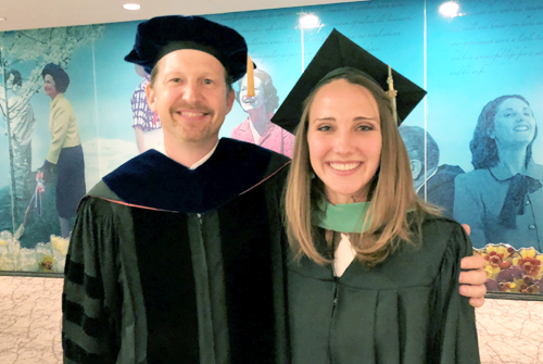 Dr. Tip Meckel and Emily Beckham