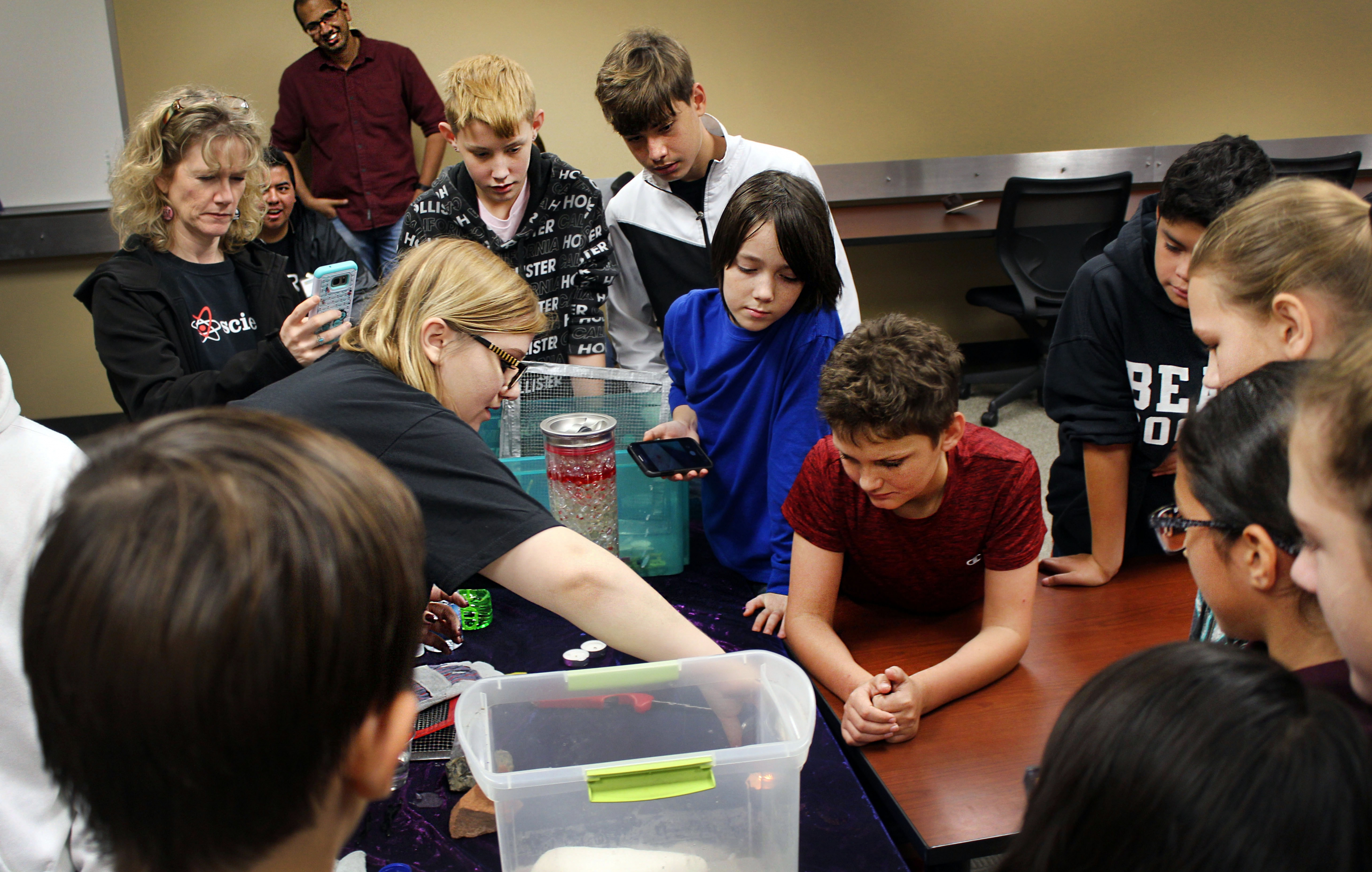 Teachers and students enjoy hands-on activities during Earth Science Week Career Day