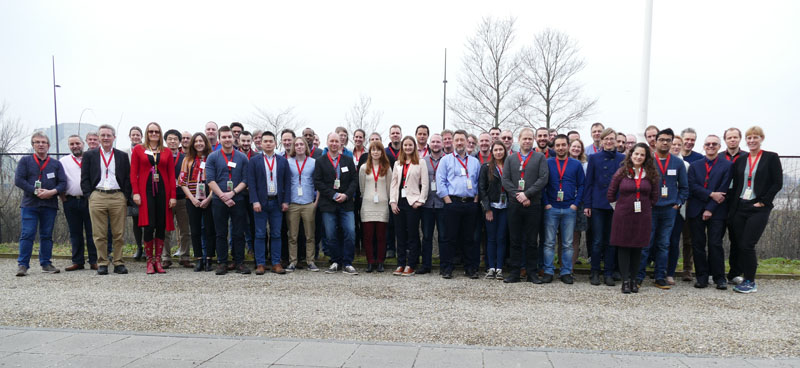 Group photo of more than 30 researchers who study project risk and safety.