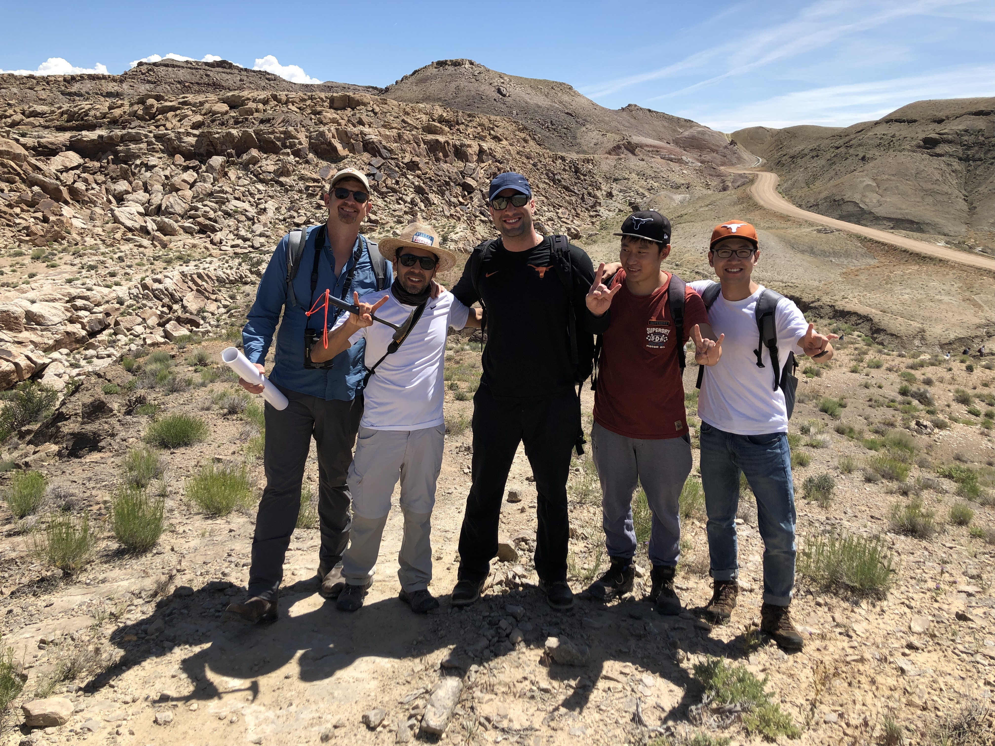 Tip Meckel (left) joins four others in the field at Little Grand Wash, UT