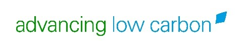 "Green and blue logo ""Advancing Low Carbon"""