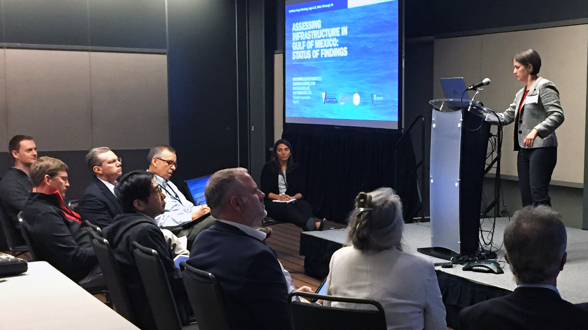 Katherine from Trimeric gives a presentation on CCS above-ground infrastructure titled, Assessing Infrastructure in Gulf of Mexico: Status of Findings