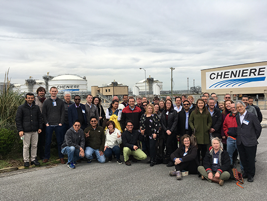 A large group of researchers met in Beaumont, Texas to attend the first annual meeting of offshore CCS DOE partnerships