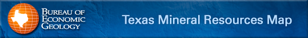 Texas Minerals Resources Map