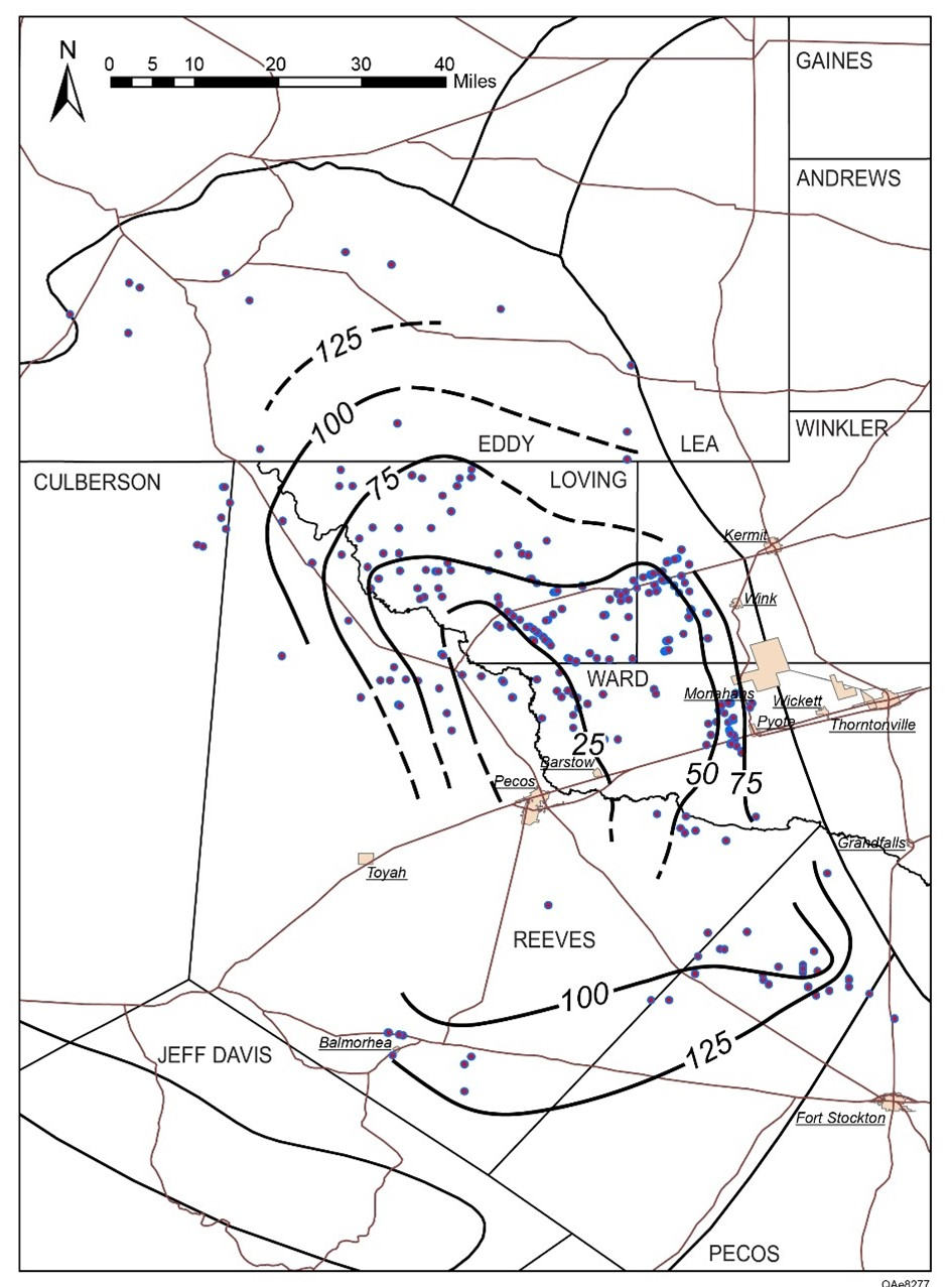 Wolfcamp Shale map