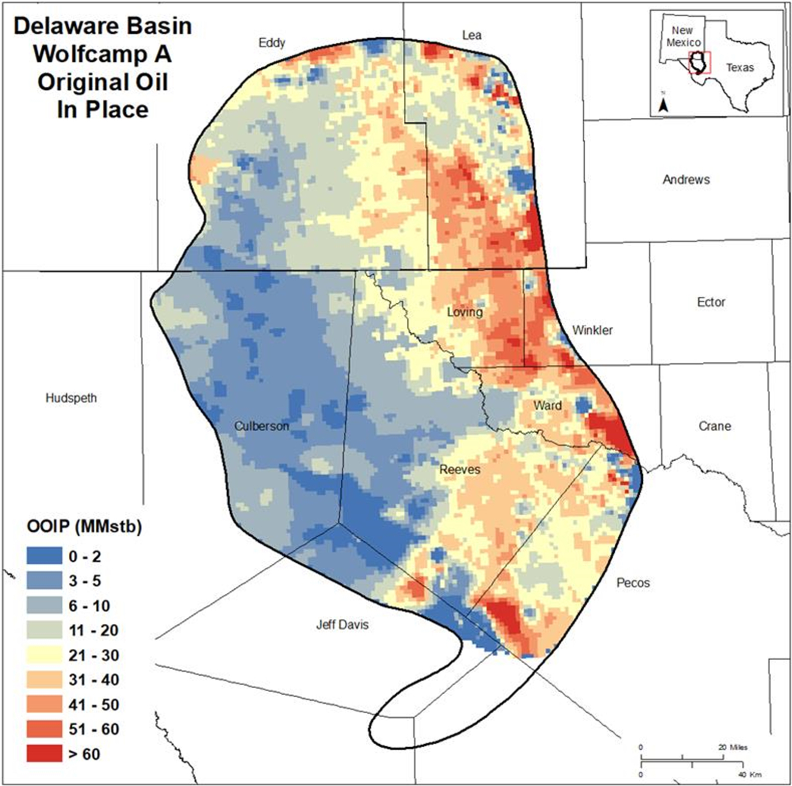 Delaware Basin Wolfcamp A Original Oil In Place